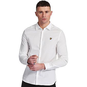 Lyle & Scott Herren Langarm Slim Fit Poplin Shirt