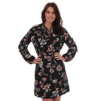 Women's Jacqueline de Yong Ruby Floral Print Dress in Black