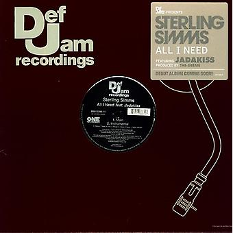 Sterling Simms - All I Need [Vinyl] USA import
