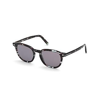 Tom Ford Pax TF816 55C Coloured Havana/Smoke Mirror Sunglasses