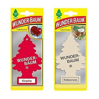 Wunder-Baum Fragrance Tree (Cherry + Coconut) 2-Pack