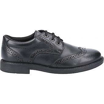 Hush Puppies Harry Boys Leather Lace Up Schoenen Zwart