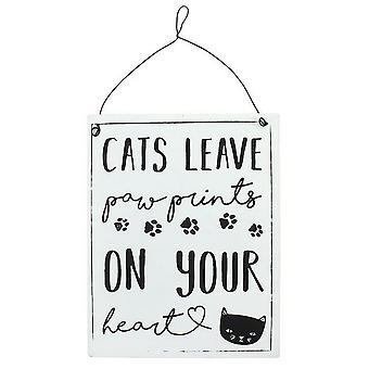 Etwas anderes Katzen lassen Paw Prints Blechschild