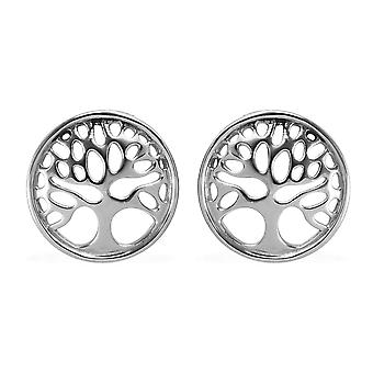 RHAPSODY 950 Platinum Tree Of Life Earrings Best Gift for Women and Girls
