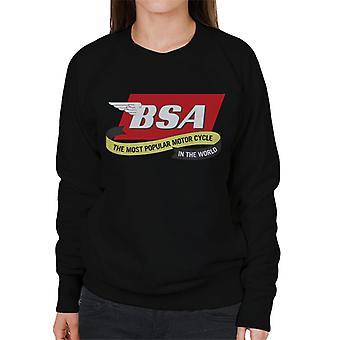 BSA The Most Popular Motorcycle In The World Women's Sweatshirt