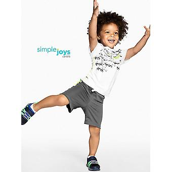 Simple Joys by Carter's Baby Boys' Toddler 3-Pack Graphic Tees, Digger,Stripe...