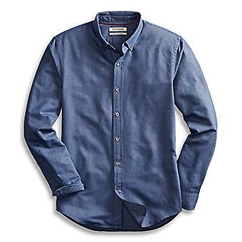 Goodthreads Miehet&s &Täydellinen Oxford paita& Slim-Fit pitkähihainen solid, indigo, xxx-suuri pitkä
