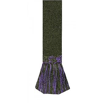 Casa de Cheviot Garter Ties Garter Ties - Olivo Oscuro & Lila