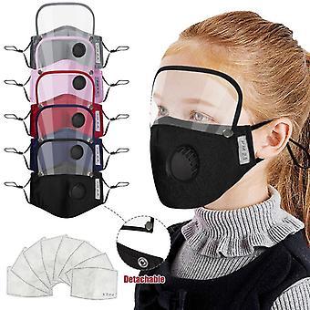Pack 3 Kinder Baumwolle wiederverwendbare Gesichtsmaske mit abnehmbaren Augenschild