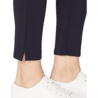 Brand - Daily Ritual Women's Ponte Side-Zip Ankle Pant, Navy,Small
