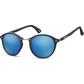 Aurinkolasit Unisex panto matta musta/sininen (MS22)