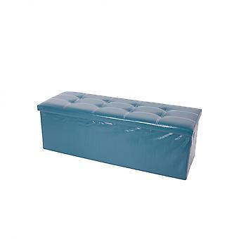 Rebecca Furniture Puff Baule Stool Green Pouf Puff Carrier 38x110x38