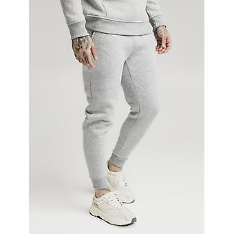 SikSilk Muscle Fit Jogger - Grey Marl