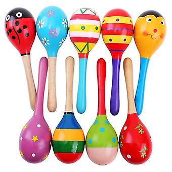 Färgglada trä, musikinstrument Baby Leksak- Montessori Skallra Shaker
