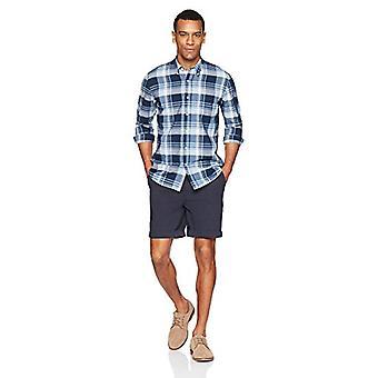 Merk - Goodthreads Men's Standard-Fit Long-Sleeve Lichtgewicht Madras ...