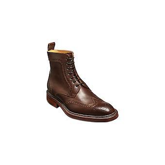 Barker Calder - dunkelbraune Korn | Herren handgefertigte Lederstiefel | Barker Schuhe