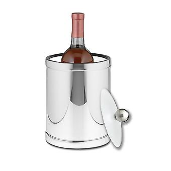 Mylar Polished Chrome 2 Qt Tall Ice Bucket, Lucite Cover