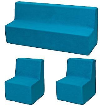 Skum møbler sæt lille barn udvidet blå
