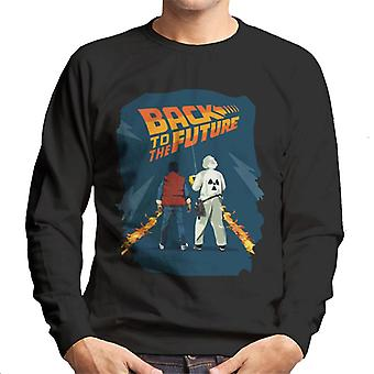 Back to the Future Marty And Doc Fire Trail Men's Sweatshirt