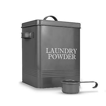Laundry Powder Tin with Scoop | M&W Grey