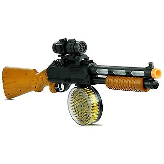 Toy Machine Gun- AK 868-1 - 60 cm - with sounds & lighting