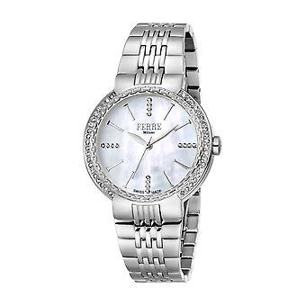 Ferre Milano Women's  FM1L113M0011 Diamonds MOP Dial Stainless Steel IP Watch