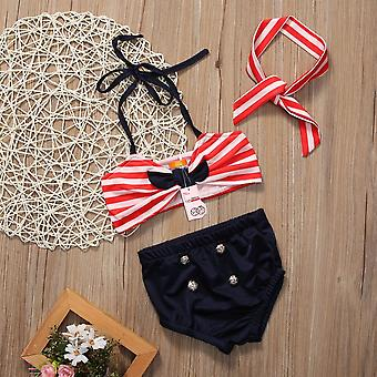 Baby Girls Bikini 2 Piece Set- Toddler Kids Swimsuit, Summer Outfits Fashion