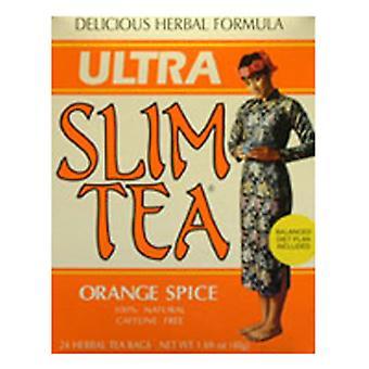 Hobe Labs Ultra Slim Tea, Oranssi Mauste 24 Laukut