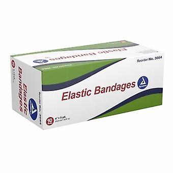 Dynarex Elastic Bandage Dynarex 4 Inch X 4-1/2 Yard Standard Compression Clip Detached Closure Tan NonSteri, Tan 1 Each