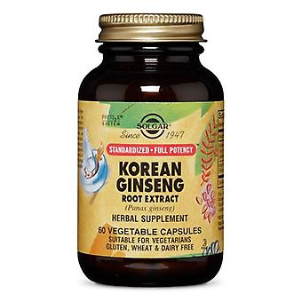 Solgar SFP Korean Ginseng Root Extract Vegetable Capsules, 60 V Caps