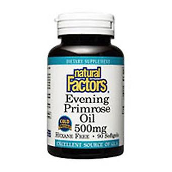 Luonnolliset tekijät Ilta Primrose Öljy, 500 mg, 180 Softgels