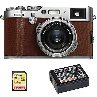 Fujifilm X100F Brown + 64GB SD card + NP-W126S Bateria