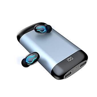 Q66 Wireless 5.0 Bluetooth Hd Stereo Earphone With Dual Mic ,6000mah Battery