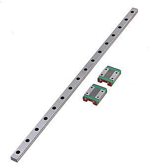 40cm plata MGN12 guía de riel deslizante lineal y 2 bloque deslizante