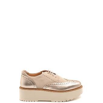 Hogan Ezbc030232 Women's Beige Suede Lace-up Shoes