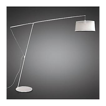 Nordica E27 Floor Lamp With Black Shade, Black / Polished Chrome