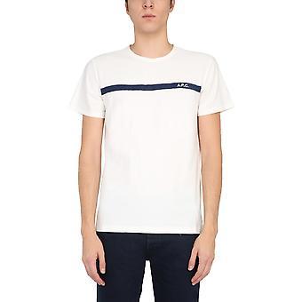 A.p.c. Coclih26643iak Men''s White Cotton T-shirt