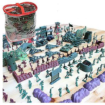 500pcs/set Army Military sand table scene military base Plastic soldiers 4cm