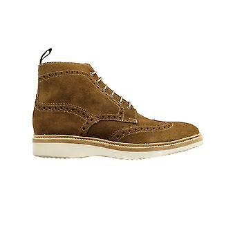 Loake Mamba Tan Suede Leather Mens Derby Boots