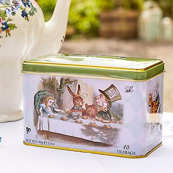 Alice in wonderland tea tin with 40 english afternoon teabags