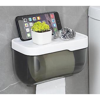 Toilet Paper Towel Holder- Wall Mounted Box From Plastic