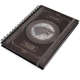 Spill av troner Stark A5 Wirebound Notebook