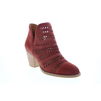 Frye & Co. Allister Feather Bootie  Womens Red Suede Ankle & Booties Boots