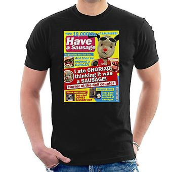 Sooty Sweep Have A Sausage Gossip Mag Parody Men's T-Shirt
