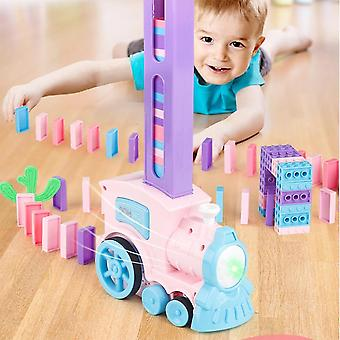 Domino Train  Automatic Laying Building And Stacking Toy