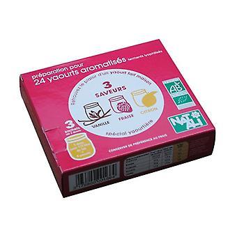 Yoghurt Vanilla Jordbær Citron Gære 3 pakker