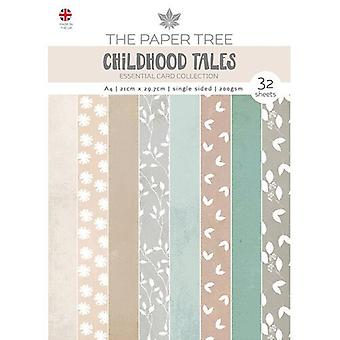 The Paper Tree - Childhood Tales Collection - A4 Essential Colour Card Pack