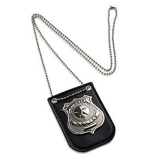 Children Occupation Role Play-america Police Special Badge With Chain And Belt