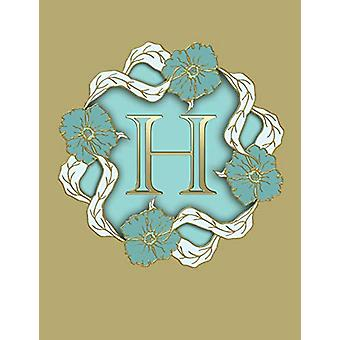 "H - 100 Pages 8.5"" X 11"" Monogram Notebook College Ruled Lin"