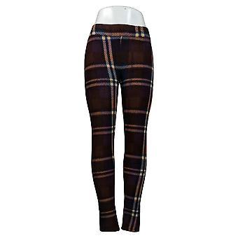 Cuddl Duds Leggings Fleecewear Stretch Leggings Plaid Purple A369295
